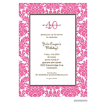 Printswell 38714 Adult Birthday Invitation